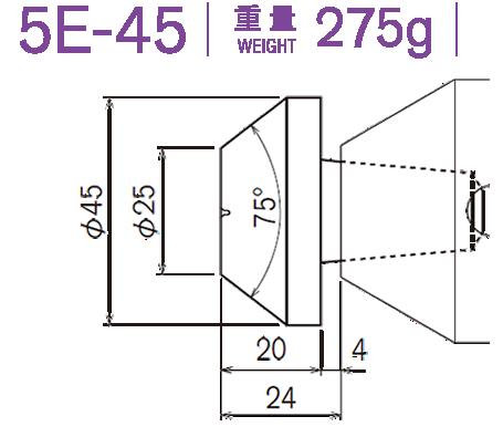 5E-45 重量220g