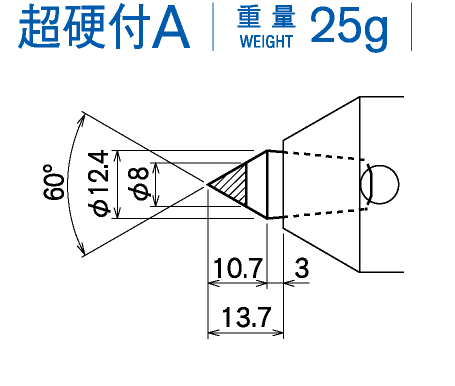 超硬付A 重量25g